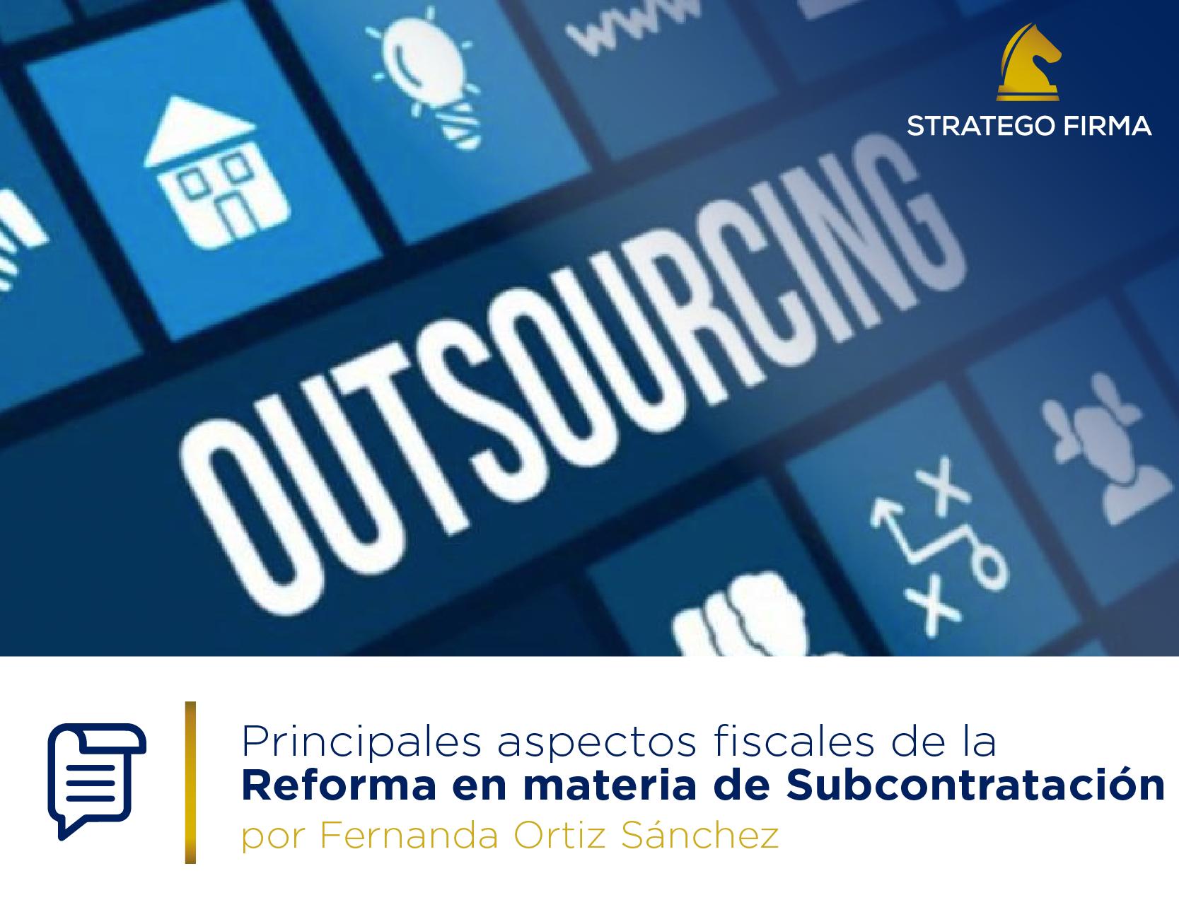 Aspectos fiscales del outsourcing